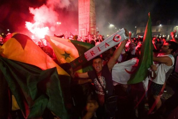 Algerians in riotous celebrations across France after team beat Super Eagles to make AFCON final