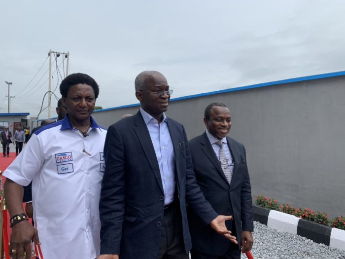 Babatunde Fashola at the launch of the N2bn compressed gas plant by Gasco Marine