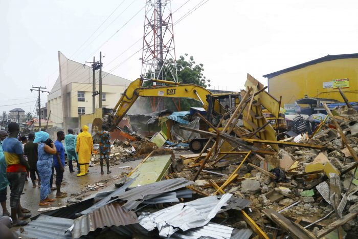 Demolition of marked buildings by Lagos State Government started this morning at Ojodu Berger area of Lagos state