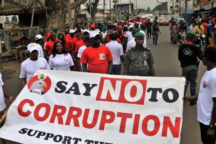 EFCC Ibadan walking against corruption