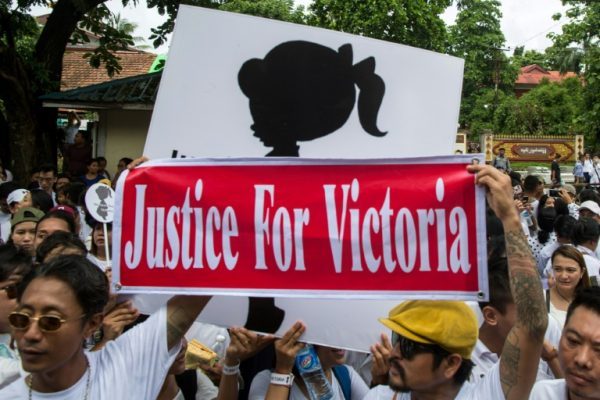 Protest in Myanmar after a two-year old toddler was raped in a nursery