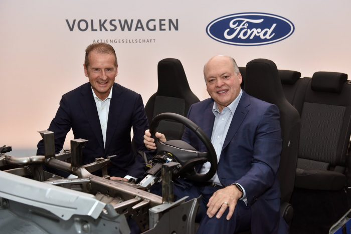 Volkswagen and Ford collaboration on electric autos
