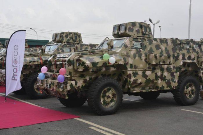 Nigerian army's mine resistant vehicles