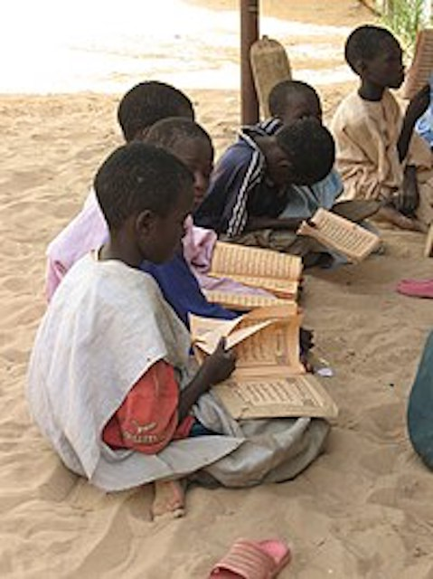 Boys studying the Quran: Just for illustration