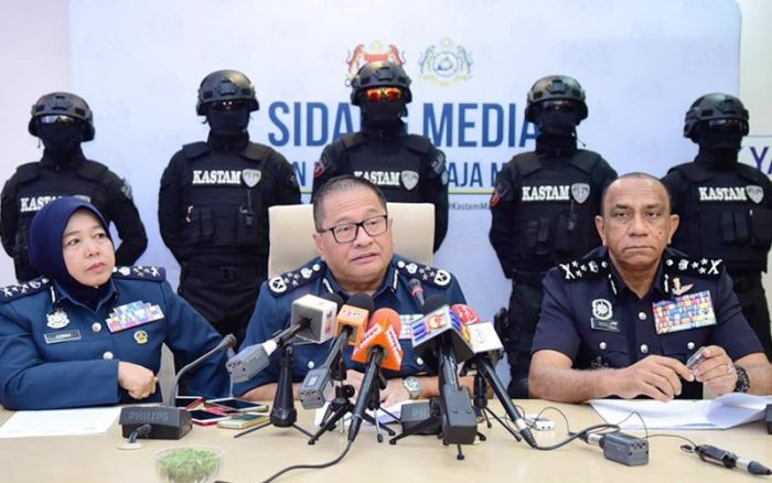 Malaysia Customs director-general Paddy Abdul Halim speaks at a press conference today.