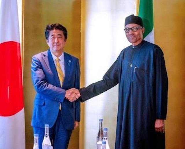 Buhari and Prime Minister Shinzo Abe