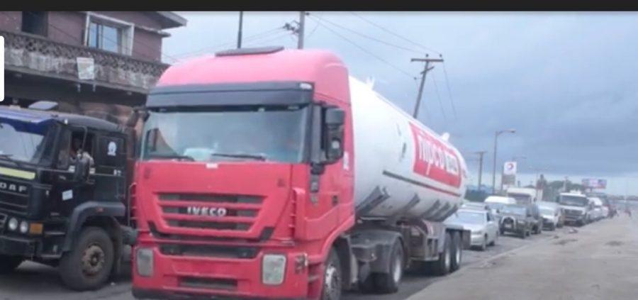 Heavy vehicles on Ojota-Ikorodu  Road