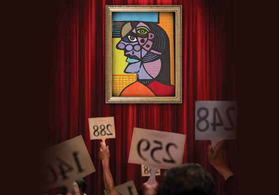 An art work at auction