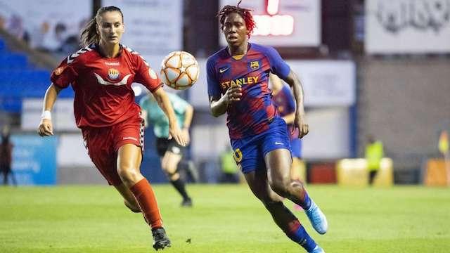 Asisat Oshoala scores for Barcelona