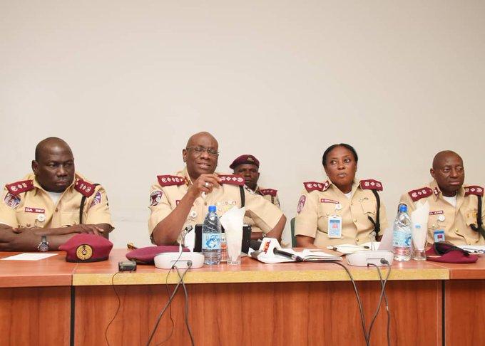 Boboye Oyeyemi Corps Marshal(second left)