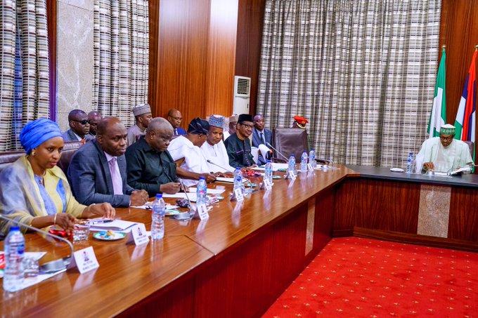 Buhari with PACAC members