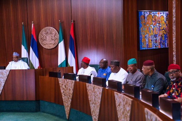 Buhari with governors and leaders of South East