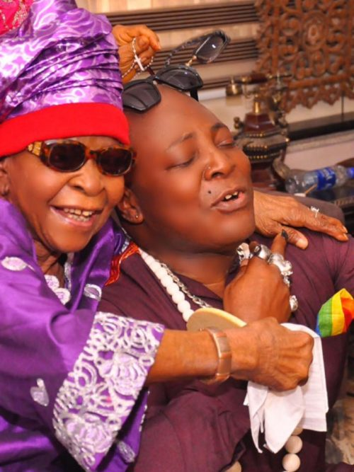 Charly Boy and his mother