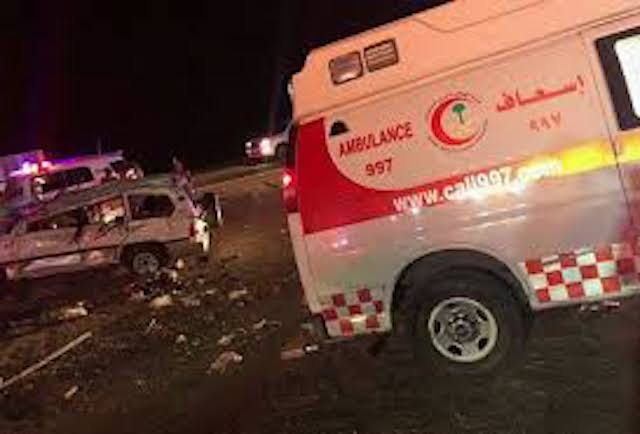 Illustration: a crash in Madinah Saudi Arabia