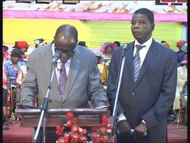 Ministers during a service at Apostolic Faith Mission