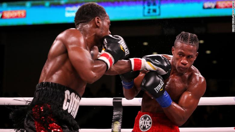 Patrick Day, right was knocked down by Conwell in the the 10th round on Saturday night in Chicago