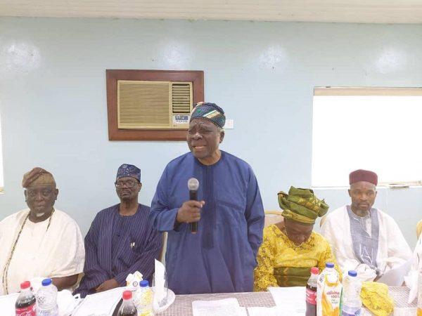Professor Banji Akintoye, addresses the Yoruba Congress in Ibadan