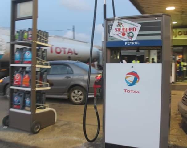Sealed TOTAL filling station