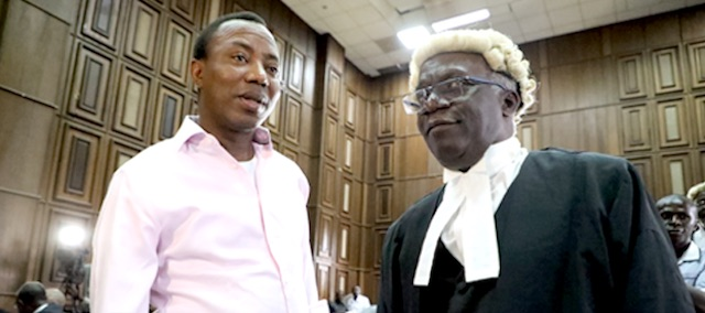 Falana and Sowore in court on Wednesday