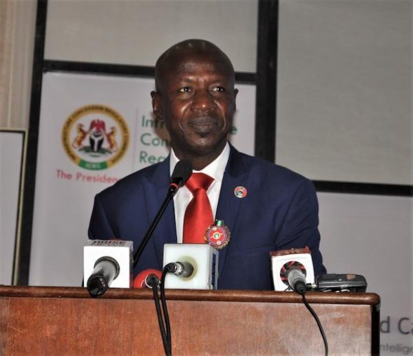 Ibrahim Magu at the Dispoara Investment conference in Abuja