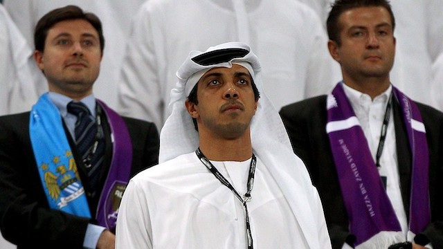 Sheikh Mansour, owner of Manchester City and City Football Group: sells 10% stake