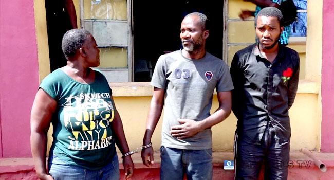 All the killers of Favour Daley-Oladele, L-R Owolabi's mother, Pastor Philip and Owolabi Adeeko