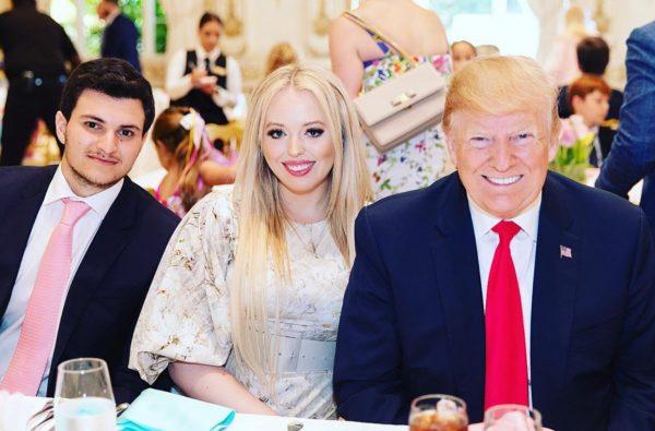 L-R Michael boulos, Tiffany Trump and Donald Trump
