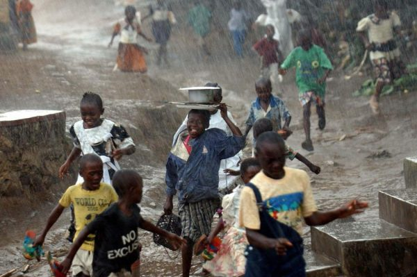 Congolese children in the town of Bunia