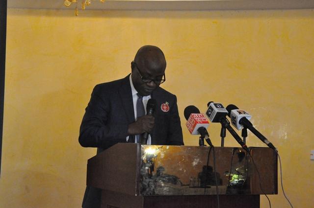 Waziri Adio, executive secretary NEITI at the launch of the Beneficial Ownership Register
