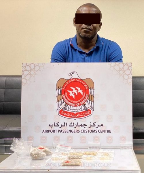 An African arrested in Sharjah, UAE for swallowing diamond