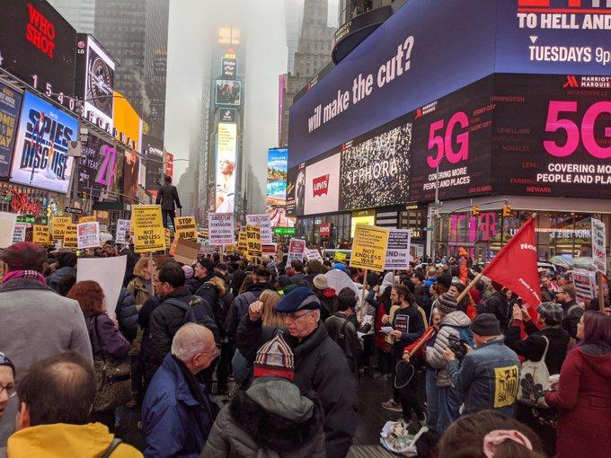 Anti-war protest in New York on Saturday