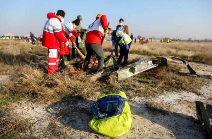 Body parts being carted away at site of Ukrainian Airlines plane crash