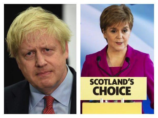 Boris Johnson, Nicola Sturgeon- set for showdown