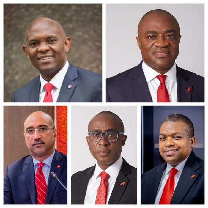 Top: Tony Elumelu, Alawiye's ba, below,    to right, Abdoul-Aziz Dia,, Nweke and Ndubisi