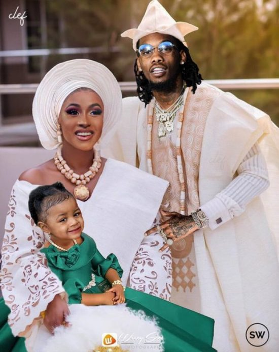 Cardi B and family