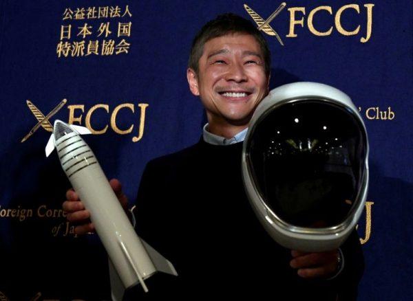 Flamboyant entrepreneur Yusaku Maezawa advertises for girlfriend for a moon trip
