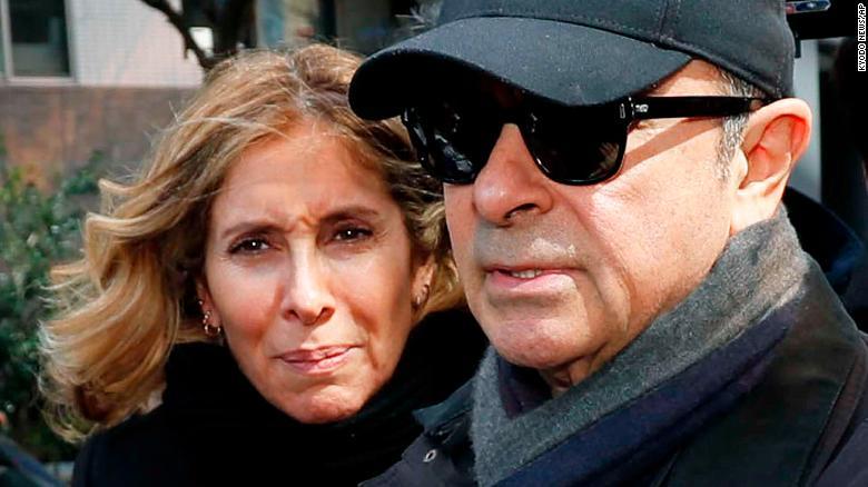 Ghosn's wife Carole1