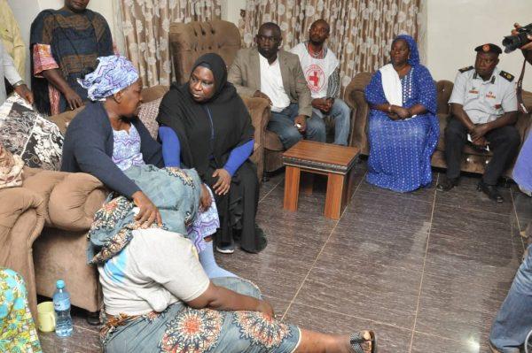 Hadiza Balarabe condoless with Simon Mallam's wife