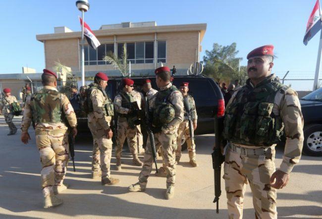 Iraqi soldiers at Al Asad air base