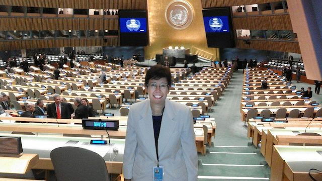 New Papal appointee Dr Francesca Di Giovanni, at the United Nations