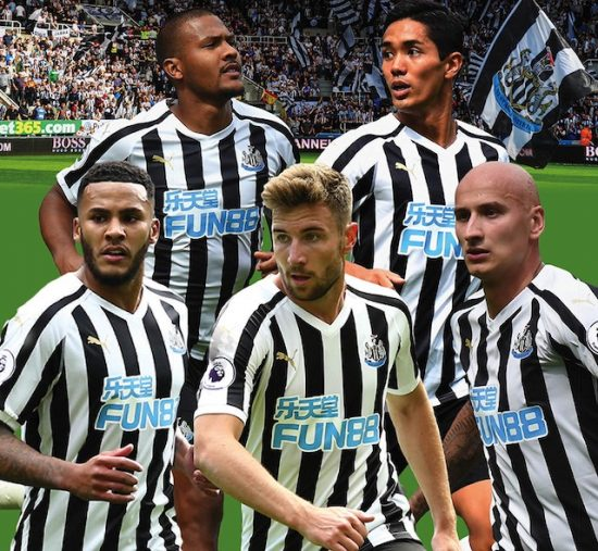 Newcastle United players