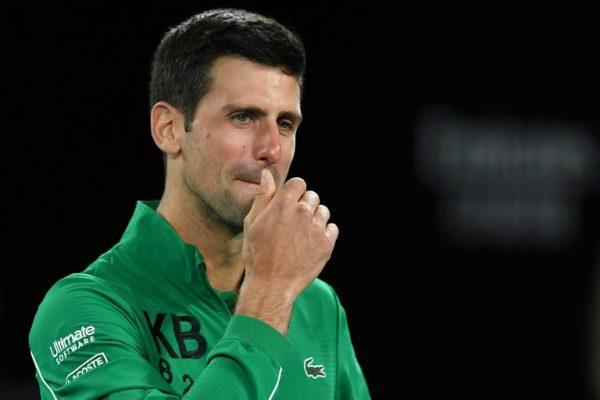 Novak Djokovic in tears for Kobe Bryant