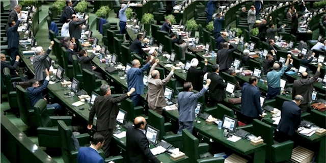 The Iranian Parliament in session