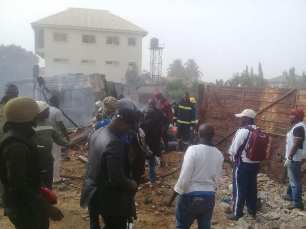 The scene of the Kaduna gas explosion