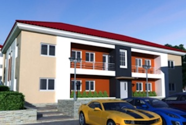 A block of 2-bedroom designs at the Good Homes Estate Abuja