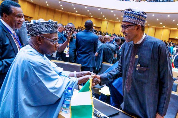 All Smiles with Obasanjo