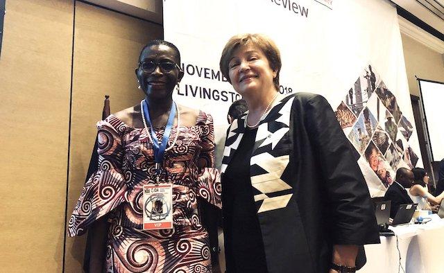 Antoinette Sayeh and IMF Managing director, Kristalina Georgieva