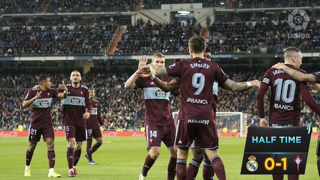Celta Vigo players share points with Real Madrid at Santiago Bernabeu