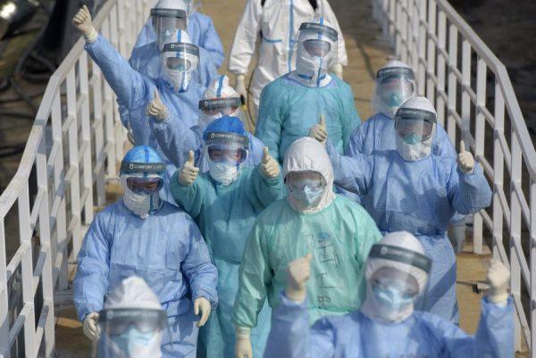 Chinese medics fighting coronavirus