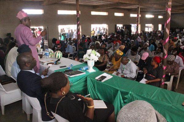 Dr Nureni Adeniran of Oyo UBEB at a meeting with head teachers